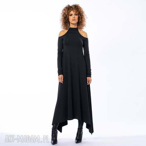 sukienki janet - sukienka, długa, maxi, asymetryczna, luźna
