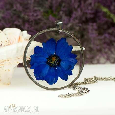 z79 naszyjnik z prawdziwym kwiatem w żywicy - naszyjnik-z-kwiatem