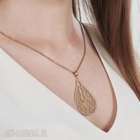 złocony naszyjnik z orientalnym motywem kasandra c993-nasz - orientalny naszyjnik