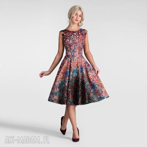 sukienka scarlett midi celestia, na wesele, midi, bez
