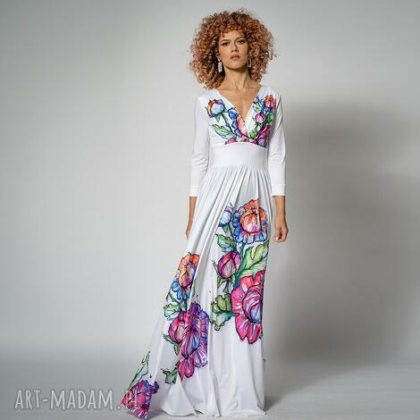 ślub flora - suknia ślubna w kwiaty, suknia, długa