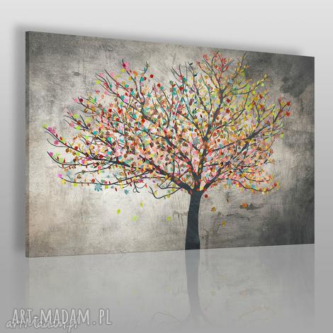 obraz na płótnie - drzewo liście 120x80 cm 30601, drzewo, liście, kolory, natura