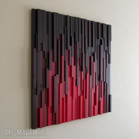 dekoracje obraz drewniany 3d mozaika drewniana sin city, mozaika, rękodzieło