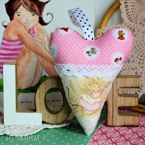 serduszko - zawieszka - myszka, serce, dekoracja dziewczynka, urodziny