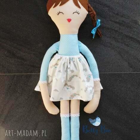 lalki ogromna lalka 75 centymetrów, niebieska księżniczka, laleczka szmacianka