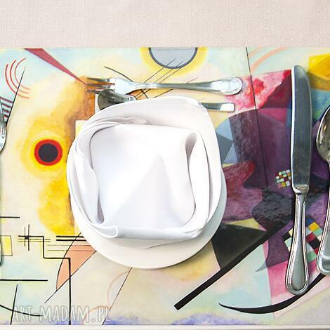 podkładki zestaw 4 dużych podkładek na stół - kandinsky, bauhaus, sztuka