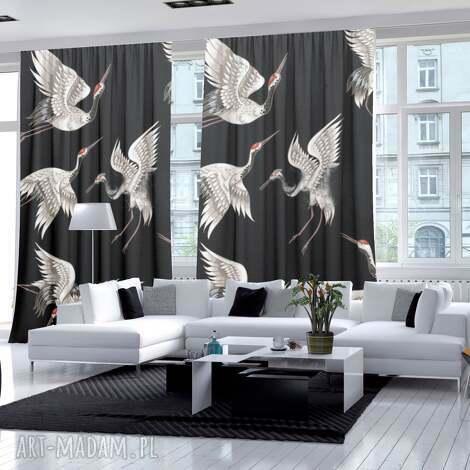 zasłony bawełniane 360g 2 szt japan birds, zasłony, fototapeta, żurawie, ptaki