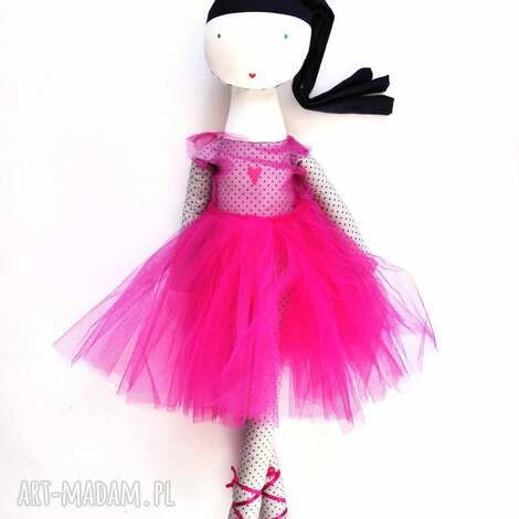 lila róż roztańczona - szmacianka, balet, taniec, tutu, baletnica, eko