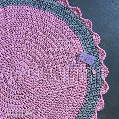dywan ze sznurka baweŁnianego rÓŻowy 100 cm - dywan, chodnik, sznurek