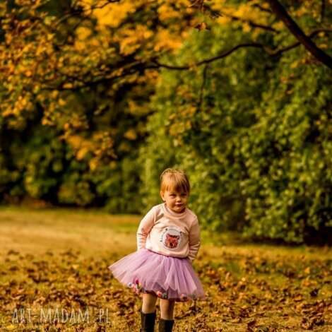 spódnice spódniczka tiulowa z pomponikami violet bow, pompony, pomponiki, tiul