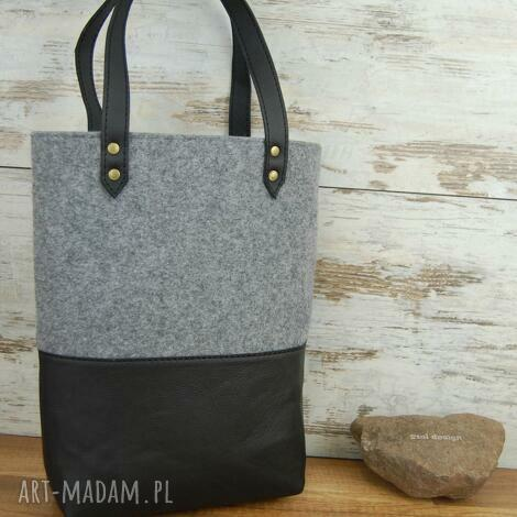 torba na ramię, zakupy, codzień, skóra naturalna, filc, elegancka, torba