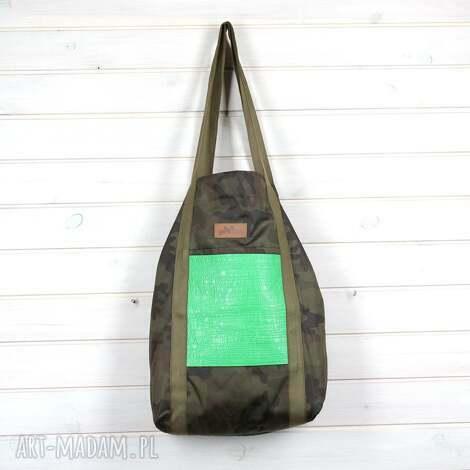 na ramię wojskowa torba moro wodoodporna, torebka, duża, pojemna