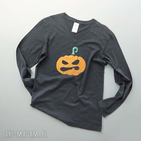 halloween metallic pumpkin bluzka męska, bluzka, meska, długi, rękaw, halloween