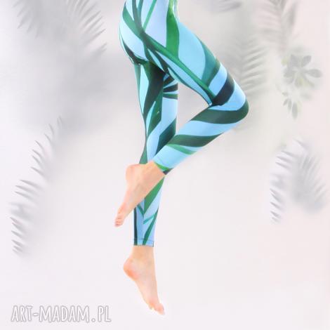 legginsy palmy, legginsy, oryginalne, kolorowe, floral, artystyczne