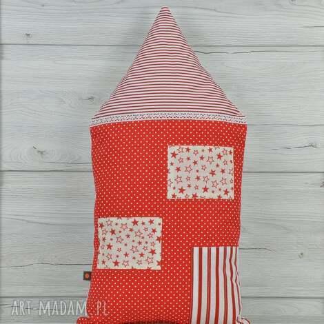 poduszka dekoracyjna 30x55cm - domek kamieniczka - poduszki, dekoracja, prezent