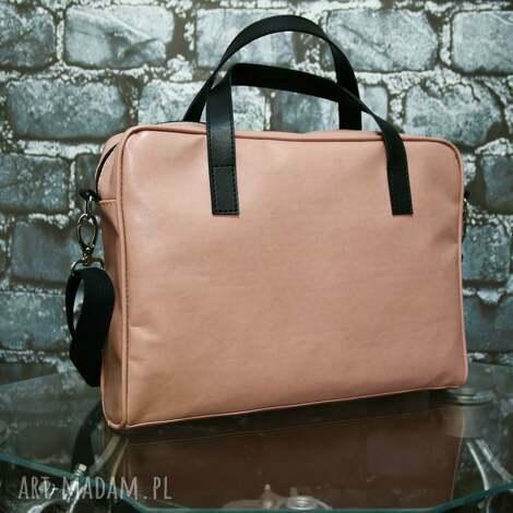 teczki przepiękna różowa torba na laptopa i dokumenty, teczka, laptop, aktówka