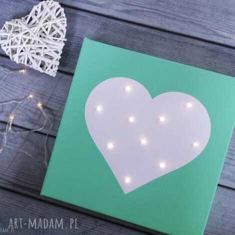 ŚwiecĄcy obraz serce personalizowany prezent dla dziecka lampka dekoracja - serce