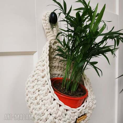 wiszące koszyki na kwiaty, kwietnik, kokonek, kwietnik wiszący, makrama