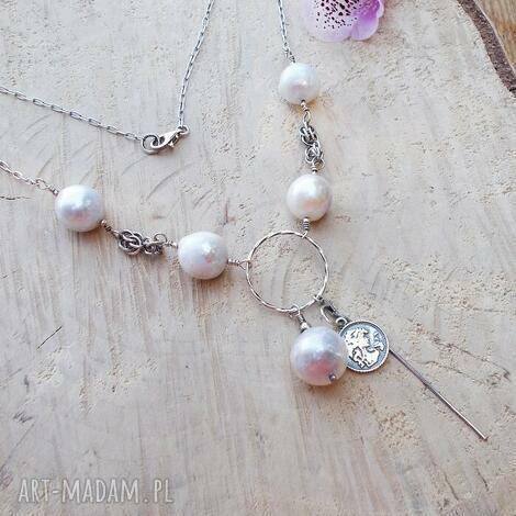 srebro pereł - naszyjnik, biżuteria srebrna, srebrny naszyjnik, biżuteria