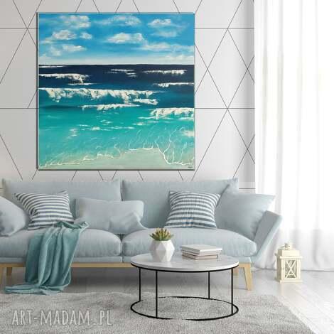 art is hard gallery morze -abstrakcyjny obraz ręcznie malowany na płótnie