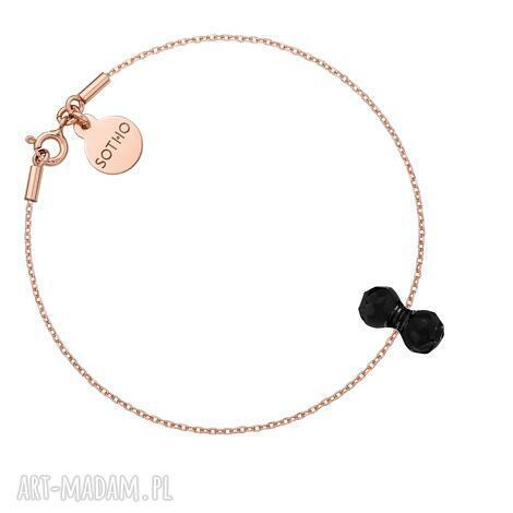 bransoletka z różowego złota z kryształowym ciężarkiem swarovski