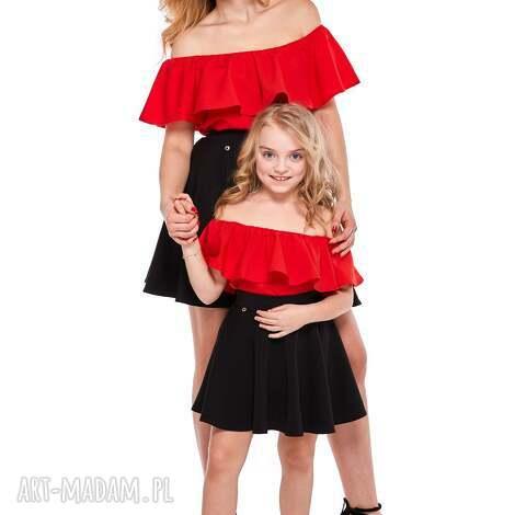 mama i córka spódnica z koła dla córki ld11/2, spódnica, rozkloszowana, mini