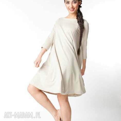 da7a7c2e74 sukienki s m sukienka typu klosz wiosenna beżowa