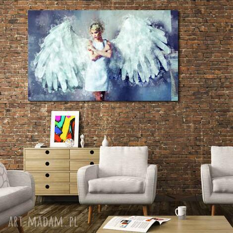 obrazy obraz xxl anioł 1 -120x70cm design na płótnie, anioł, kobieta
