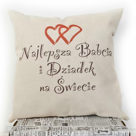 poduszka,, najlepsza babcia i dziadek na świecie, babcia, dziadek, prezent, poduszka