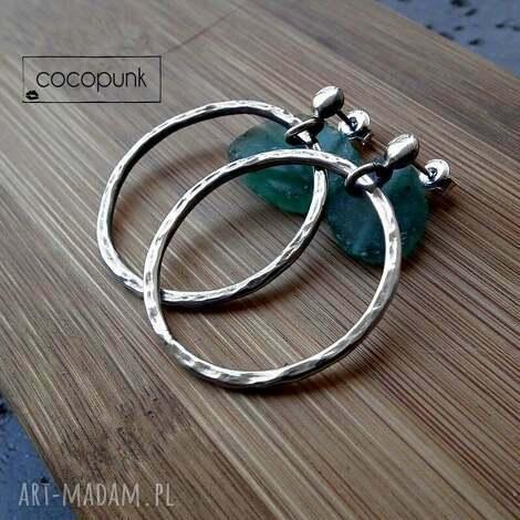 kolczyki srebrne koŁa -Średnie 3,5cm - delikatne, kobiece, srebrne