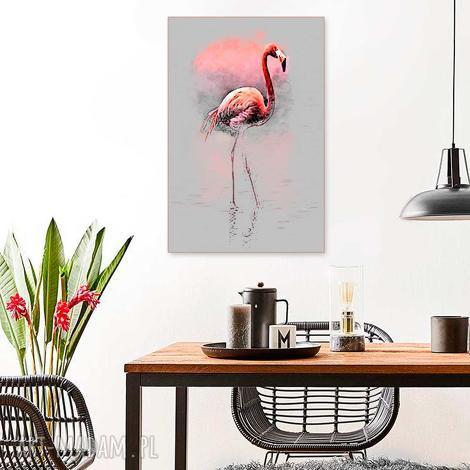 grafika na płótnie flaming spacer 80 x 120, elegancki minmalizm, obraz do salonu