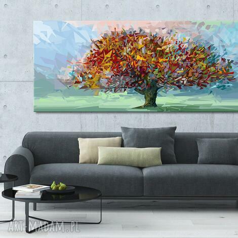 obraz drukowany na płótnie - świat z papieru - abstrakcyjne drzewo 150x60cm 02476
