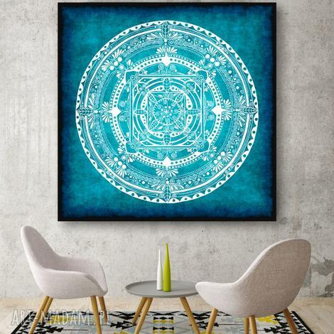 mandala 50x50cm, mandala, obraz, grafika, plakat, pod choinkę prezent
