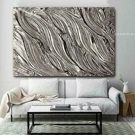 metaliczne żłobienia - obraz na płótnie - obraz na plotnie, modne obrazy