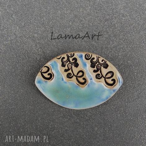 ceramiczna broszka - broszka, ceramiczna, biżuteria