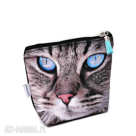 kosmetyczka kot, saszetka kotek, wodoodporna z kotem, mała