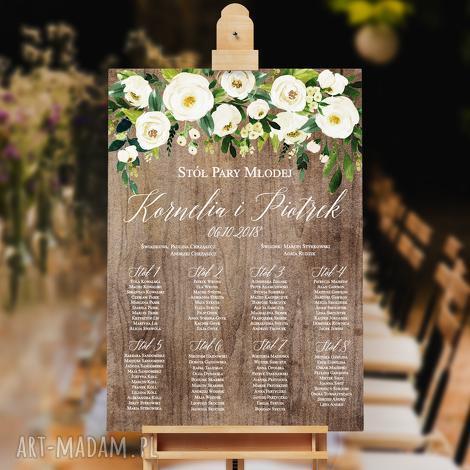 księgi gości plakat plan stołów - 50x70 cm, stołów, goście, ślub, wesele