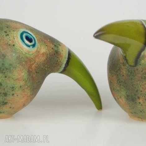 ceramika wielki ptak patrzy, ceramika, zwierzęta, figurki, ptaki