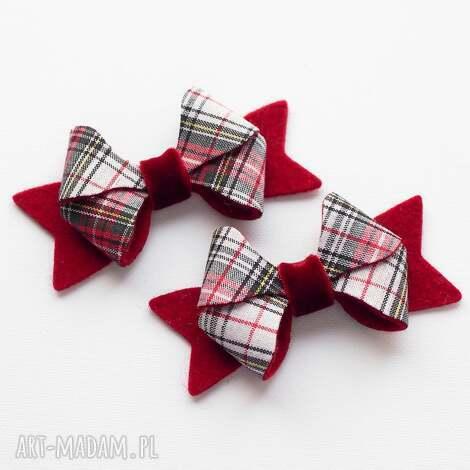 spinki do włosów kokardki butterfly na święta, spinki, kokardki, świąteczna
