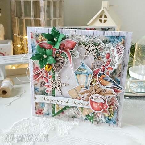 kartka świąteczna z dzwoneczkiem - kartka na święta, boże narodzenie