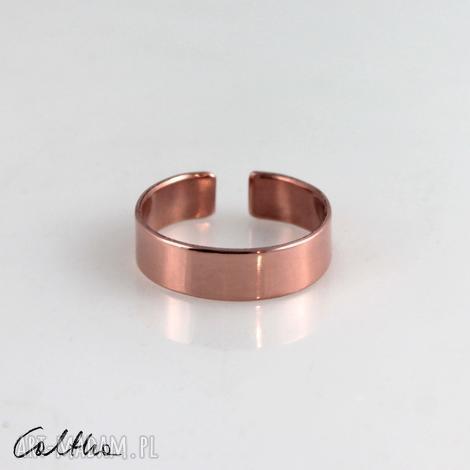 gładka - miedziana obrączka 191028-01 - pierścionek, regulowana męska