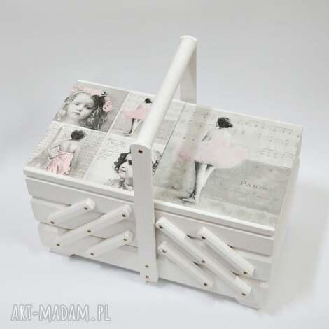 wyjątkowy prezent, pudełka niciarka balet vintage, niciarka, vintage