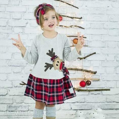 sukienka rudolf, święta, świąteczna dla dziecka, święta prezent