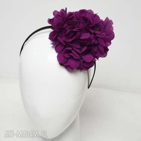 ozdoby do włosów fuksjowy kwiatostan, fuksja, kwiaty, jedwab, fascynator