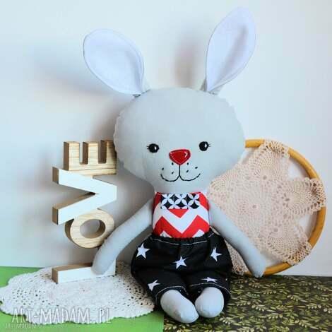 królik tuptuś - emil - 45 cm - zabawka, gwiazdka, przytulanka chłopczyk