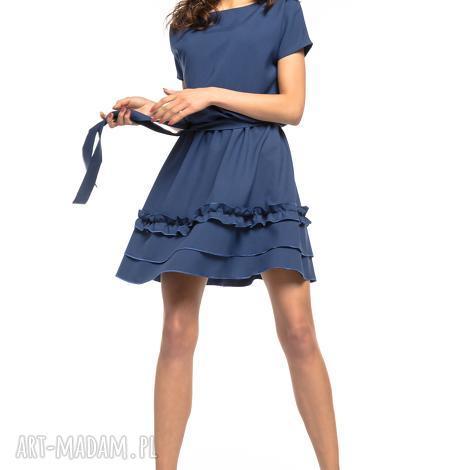 71f2b97fb3 sukienki sukienka z ozdobną falbanką na spódnicy