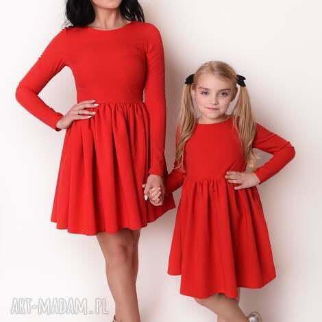 7327ca439b latori - sukienka dziewczęca z kolekcji mama i córka dla córki ld40 1  czerwony