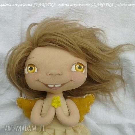 aniołek lalka - dekoracja tekstylna, ooak, aniołek, na roczek