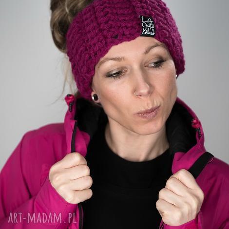 opaska mono 27 - fuksjowa, snowboard, zimowa, ciepła, prezent, upomienek