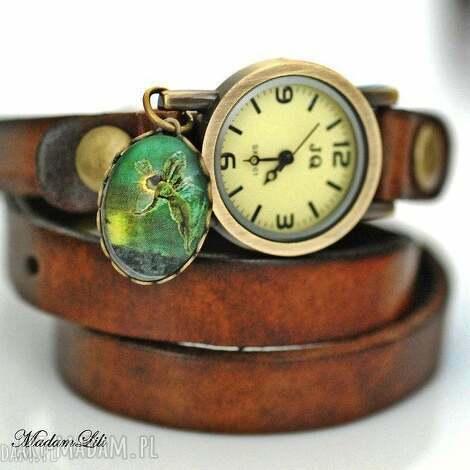 dobra wróżka zegarek skóra, wróżka, elf, zegarek